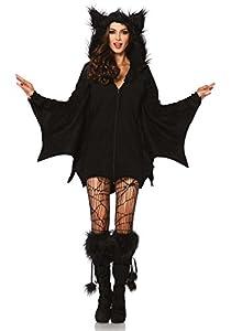 Leg Avenue Women's Cozy Bat Costume, Black, X-Large
