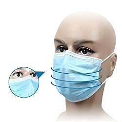 Axtry Disposable Non Woven Face Mask Ear Loop - Elastic (100)