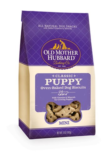 Old Mother Hubbard Crunchy Classic Snacks for Dogs, Mini, Puppy, 5-Ounce Bag