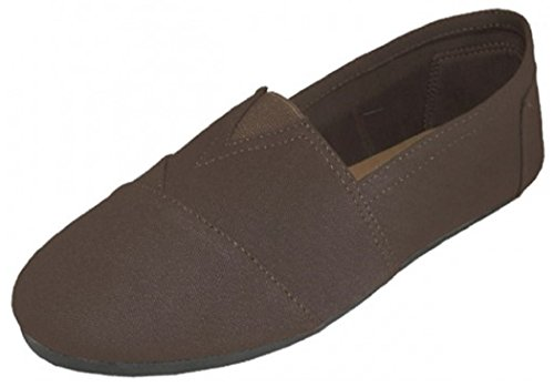Mens Canvas Slip on Shoes Sneakers 3 Colors (8, Brown 360m)