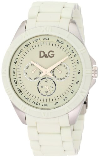 Dolce & Gabbana Men's Watch Analogue Quartz DW0768 with White Resin Strap White Dial