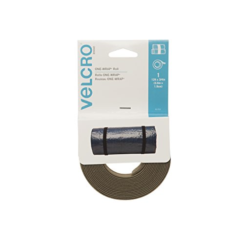 """Velcro Brand - One-Wrap: For Cables, Wires & Cords - 12' X 3/4"""" Roll - Tan front-429411"""