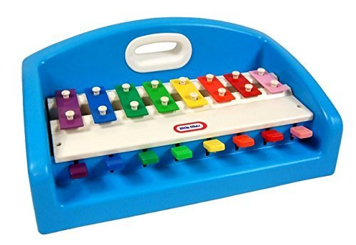 Little Tikes Blue Tap-A-Tune Piano XYLOPHONE with carrying handle - 1