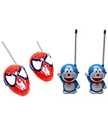 Combo of Spiderman & Doreamon walkie talkie set