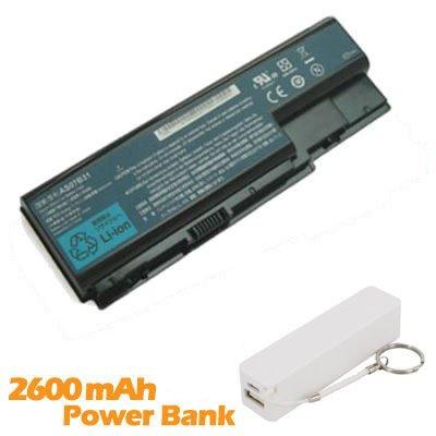 Battpit Batterie d'ordinateur Portable de Remplacement pour Acer Aspire 5220G (4400mah / 65wh) avec 2600mAh de banque de puissance / batterie externe