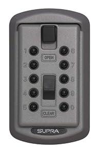Kidde AccessPoint 001170 KeySafe Original 2-Key Slimline, Pushbutton, Titanium Gray