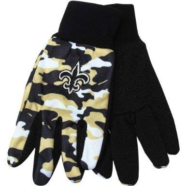New Orleans Saints NFL Camouflage Team Work Gloves