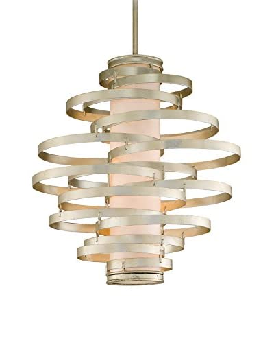 Truesdale Anderson Collection 4-Light Pendant, Modern Silver/Citrine Ice