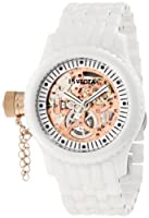 Invicta Women's 1898 Russian Diver Mechanical Rose Gold Tone Skeleton Dial White Ceramic Watch by Invicta