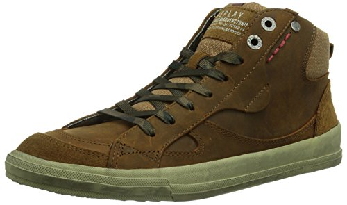 REPLAY Proud O, Sneaker alta Uomo, Marrone (Braun (TAN 56)), 42