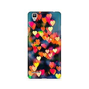 Ebby Blurry Hearts Premium Printed Case For Oppo F1 plus