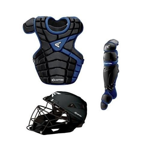 Easton M10 Adult Custom Catchers Set, Black/Royal (Adult Catcher Gear compare prices)