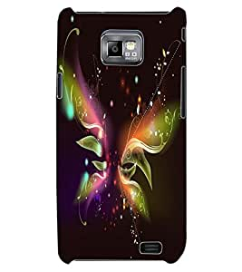 ColourCraft Digital Butterfly Design Back Case Cover for SAMSUNG GALAXY S2 I9100