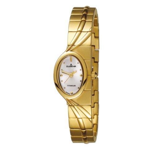 Dugena Gala 4395611 - Reloj de mujer de cuarzo, correa de titanio color oro