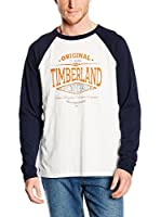 Timberland Camiseta Manga Larga Tfo Ls Slub Tee (Blanco Roto / Azul Noche)