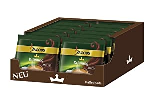 Find Jacobs Krönung Crema Dark, Pack of 12, 12 x 16 Coffee Pods from Kraft Foods