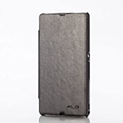 KLD Enland PU Leather Diary Flip Cover Case for Sony Xperia Z LT36i (BLACK)