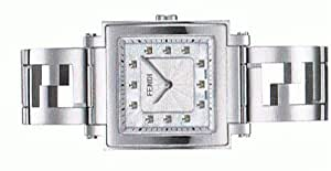 Amazon.com: FENDI Quadro Collection MOP Diamond Dial Womans Steel