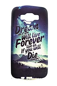 Purple Eyes Fashion Printed Silicon Back Case for Samsung Galaxy E7 Dream Forever