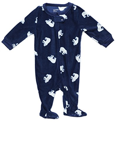 Fleece Footed Sleeper Polar Bear 6-12 Months