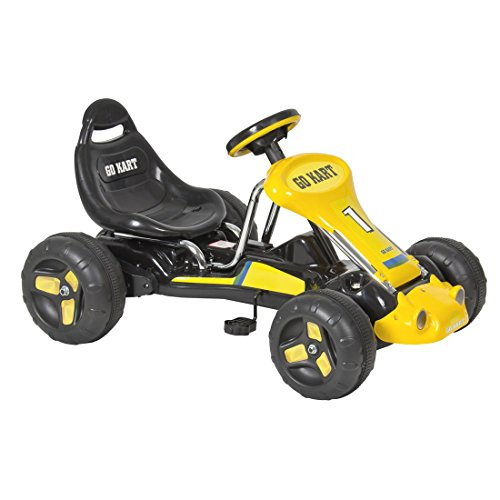 go-kart-4-wheel-kids-ride-on-car-stealth-pedal-powered-outdoor-racer-blk-yellow
