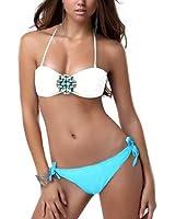 DJT - 2014 nouveau 2 pièces Sexy Femme Bikini Maillots De Bain Beachwear avec Cristal