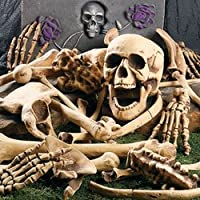 DELUXE HALLOWEEN BAG OF SKELETON BONES - FULL 28 PIECE SET - PERFECT FOR A HALLOWEEN GRAVEYARD or HAUNTED HOUSE from spookville