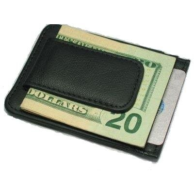Fine Leather Hand Crafted Mans Man's Mens Men's Mini Wallet Credit Card Holder with Magnetic Money Clip