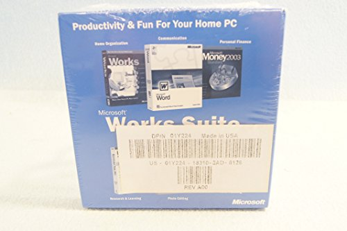 Microsoft Works Suite 2003 for Microsoft Windows Operating System: PC Computer Software Program Disc-CD-Rom Set: Sealed Brand New: Part Number: X08-89391 (Windows Office 2003 compare prices)