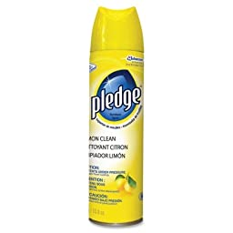Diversey Pledge Furniture Polish - Spray - 13.80 oz (0.86 lb) - Lemon Scent - Off White