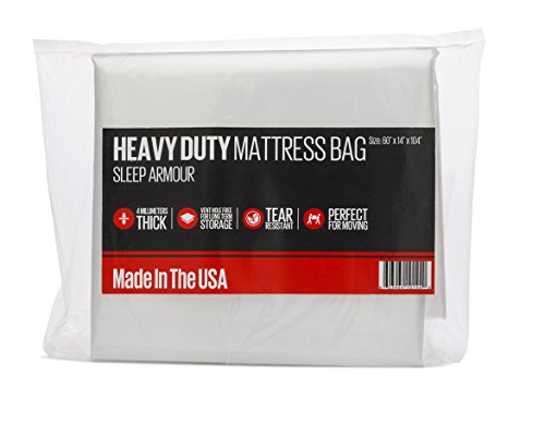 Buy Discount Mattress Bag for Moving : Heavy Duty 4 mil Thick Mattress Bag for Storage / Moving, Mad...
