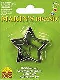 Makin's Brand Set of 3 Star Cutters (2-4cm)