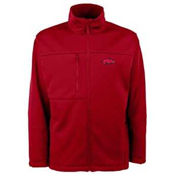 NCAA Arkansas Razorbacks Traverse Jacket Mens by Antigua