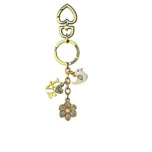 Juicy Couture 3D Pave Flower, Love, Peace, Dove Keyfob/ Key Chain Ysru2777