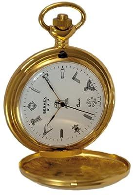 Bernex Pocket Watch GB21113 Gold Plated Full Hunter Masonic