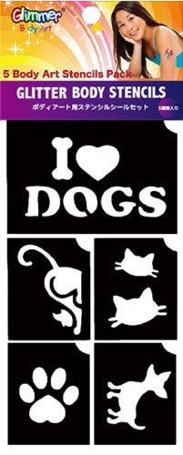 Glitter Tattoo Stencils (I Love Pets)