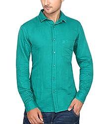Ecohawk Green Casual Slim Fit Shirt 10090-D