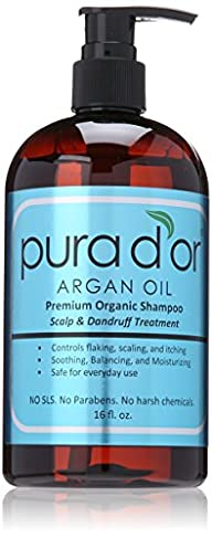 PURA D'OR Scalp & Dandruff Premium Organic Argan Oil Treatment Shampoo, 16 Fluid Ounce