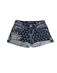 Miss Me Cross Mid Rise Shorts