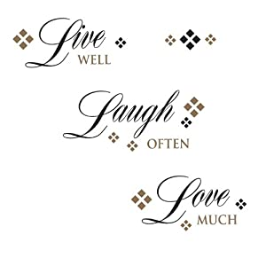 RoomMates RMK1396SCS Live, Love, Laugh Peel & Stick Wall Decals from RoomMates