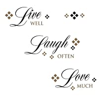 RoomMates RMK1396SCS Live, Love, Laugh Peel & Stick Wall Decals