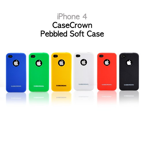 CaseCrown Pebbled Soft Cases for Apple iPhone 4 (6 in 1 Bundle)