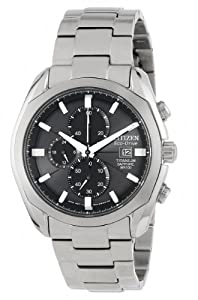 "Citizen Men's CA0020-56E ""Eco-Drive"" Titanium Watch"