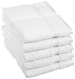 Superior Egyptian Cotton 10 Piece Face Towel Set, White by Superior