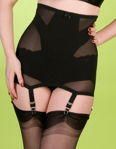 Stockings and Romance Black Illusion Girdle 3XL/18 US/48 FR/46 EUR Black