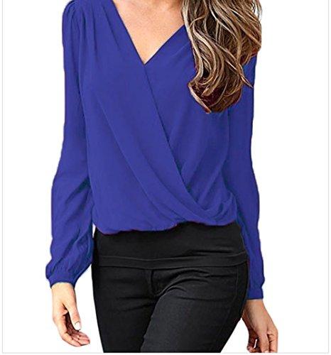 christmas-peggynco-womens-stylish-crochet-back-wrap-front-blue-blouse-size-2xl