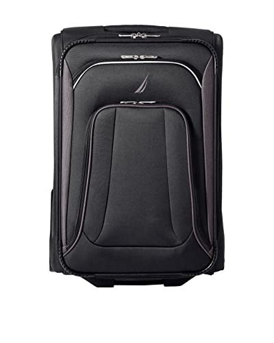 "Nautica Luggage Charter 24"" Expandable Rolling Suitcase, Black/Grey As You See"