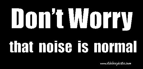 Don't Worry That Noise Is Normal Bumper Sticker / Decal