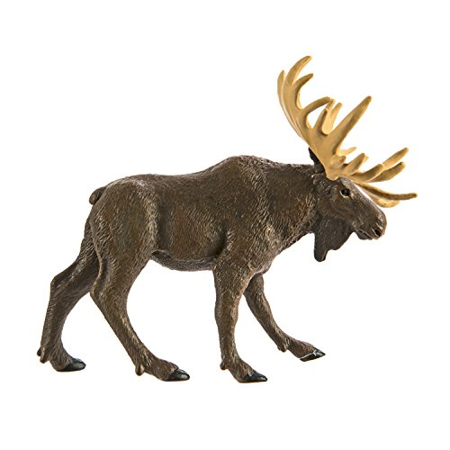 Safari Ltd Wild Safari North American Wildlife - Moose - Realistic Hand Painted Toy Figurine Model - Quality Construction From Safe and BPA Free Materials - For Ages 3 and Up