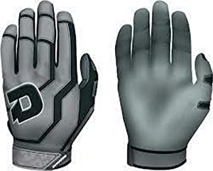 Buy DeMarini WTA6350 Versus Black Large Adult Batting Gloves New In Wrapper 1 Pair by DeMarini